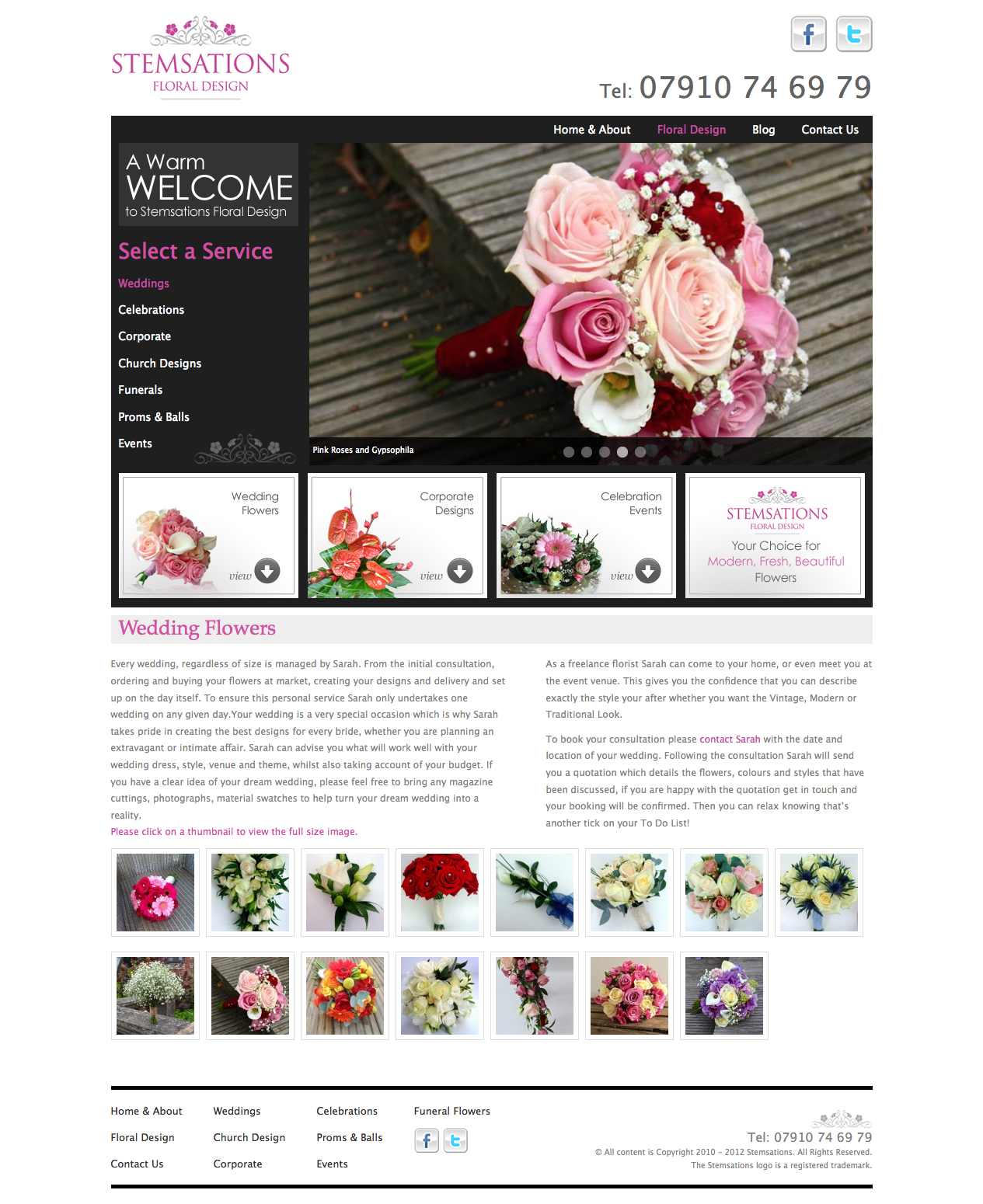 Wedding Flowers Page
