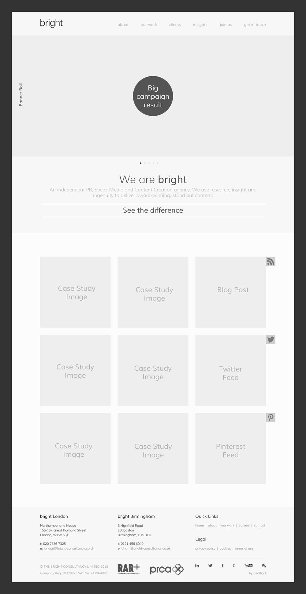 Wireframe - Homepage