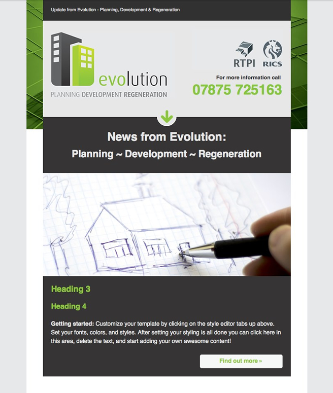 Evolution Email Design