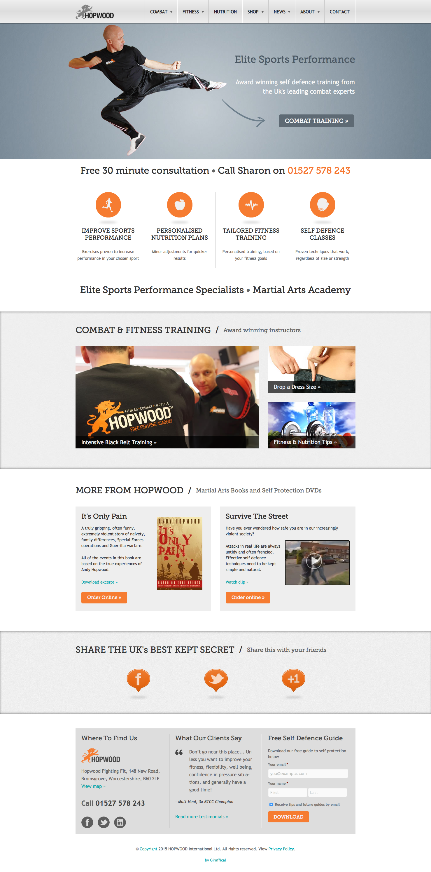 Hopwood UK Website Redesign - Home Page