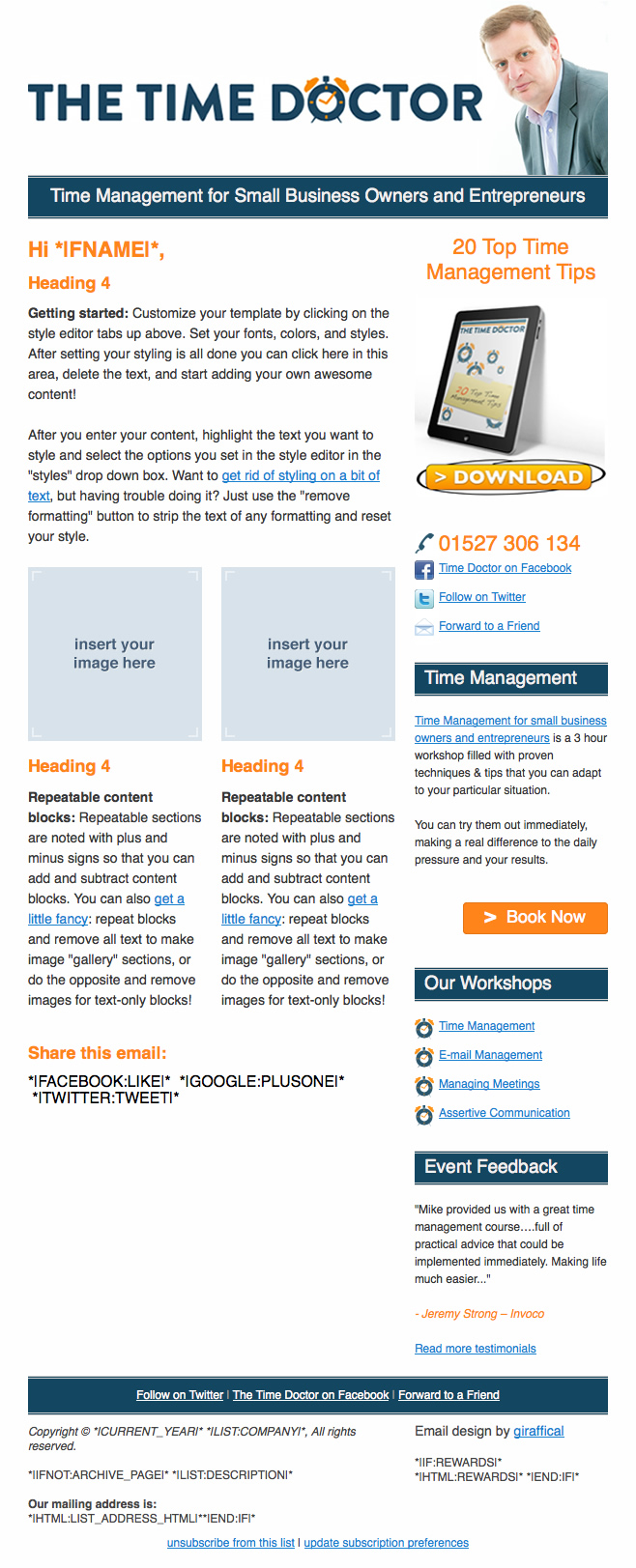 The Time Doctor Email Design