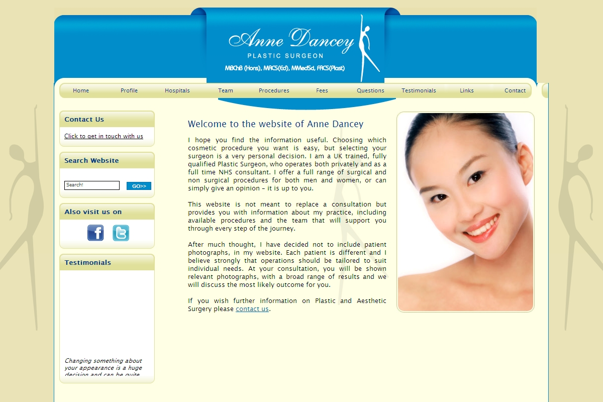 Anne's existing website