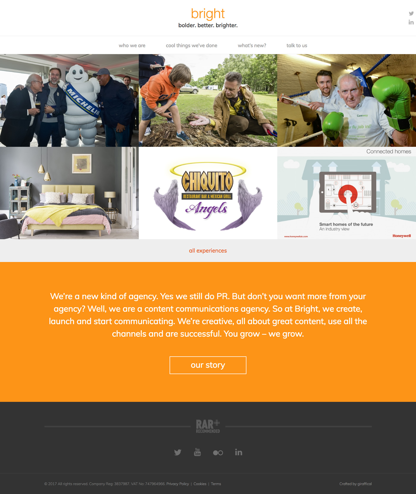 Bright - Redesigned Home Page