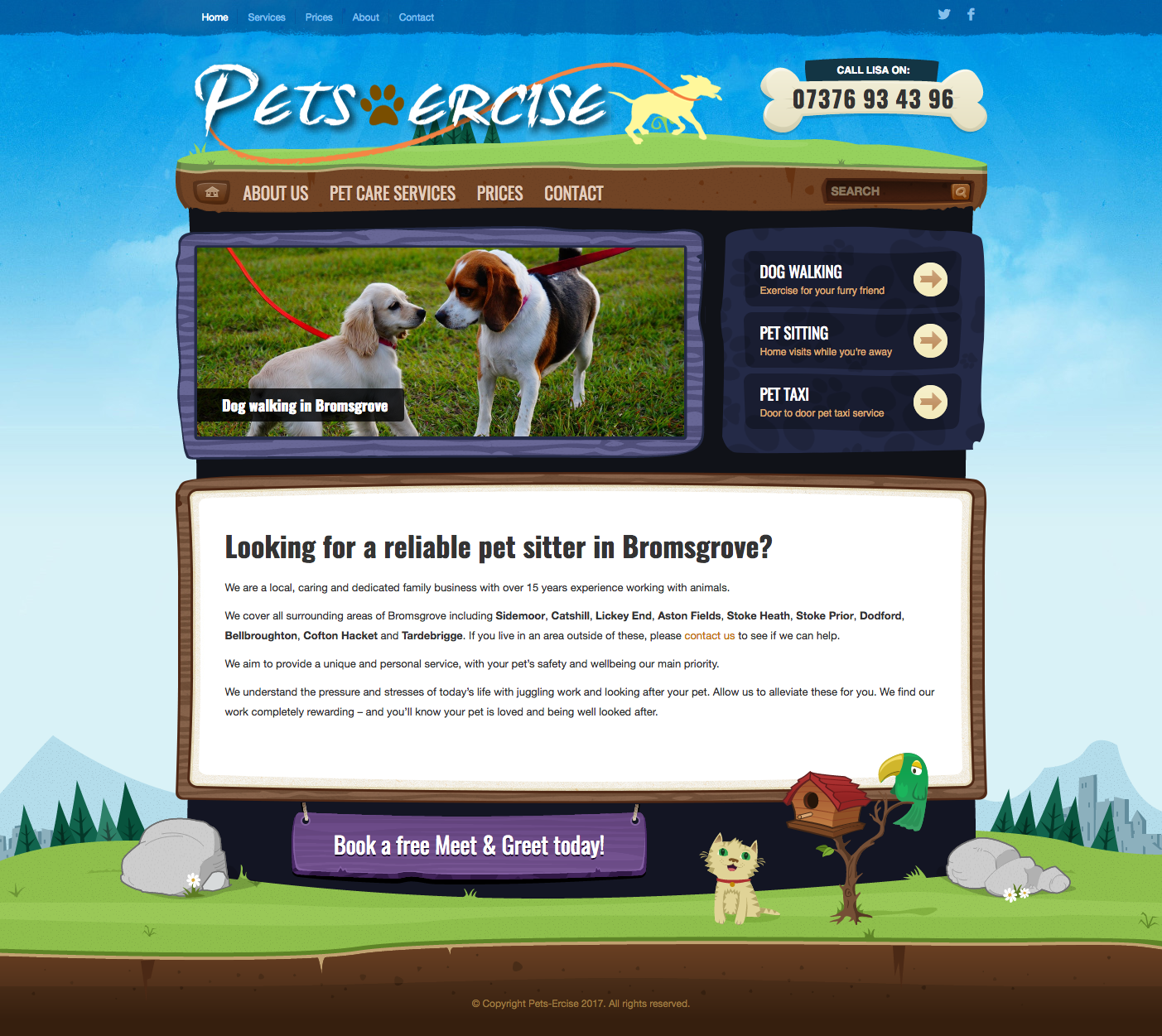 Pets-Ercise - Homepage