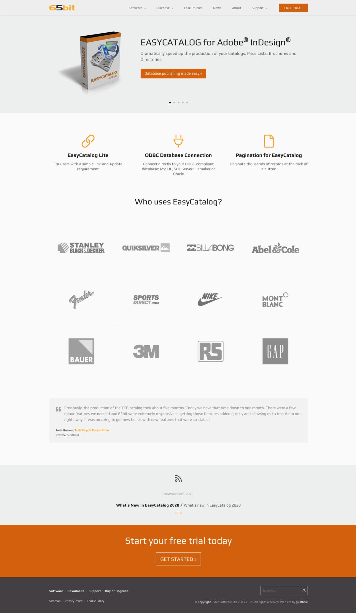 65bit Software Website Redesign - HomePage