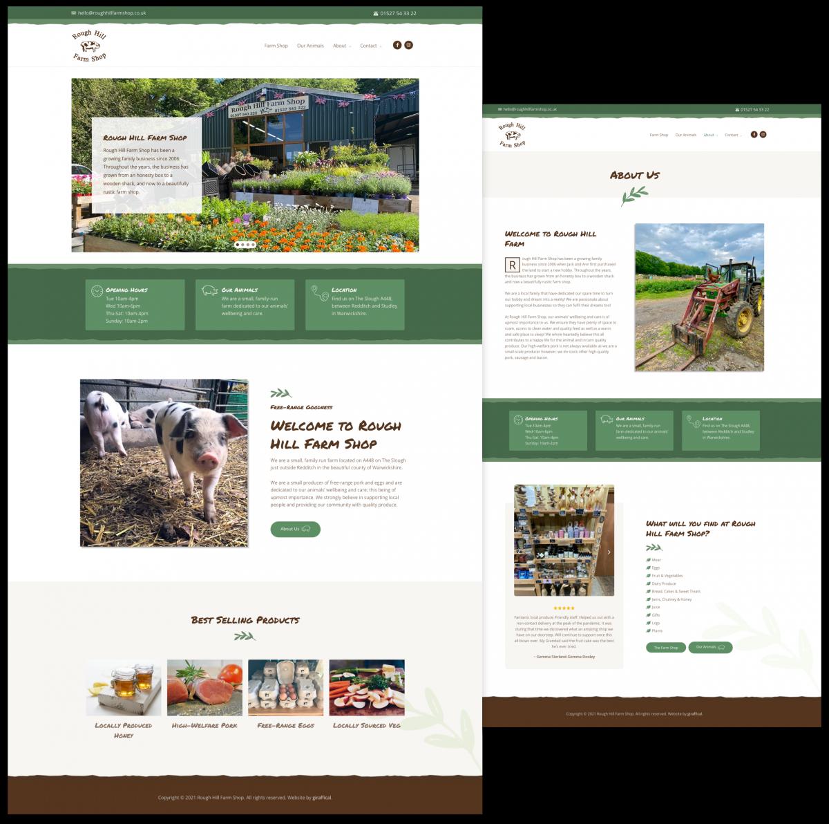 Farm Shop Website Design - Rough Hill Farm