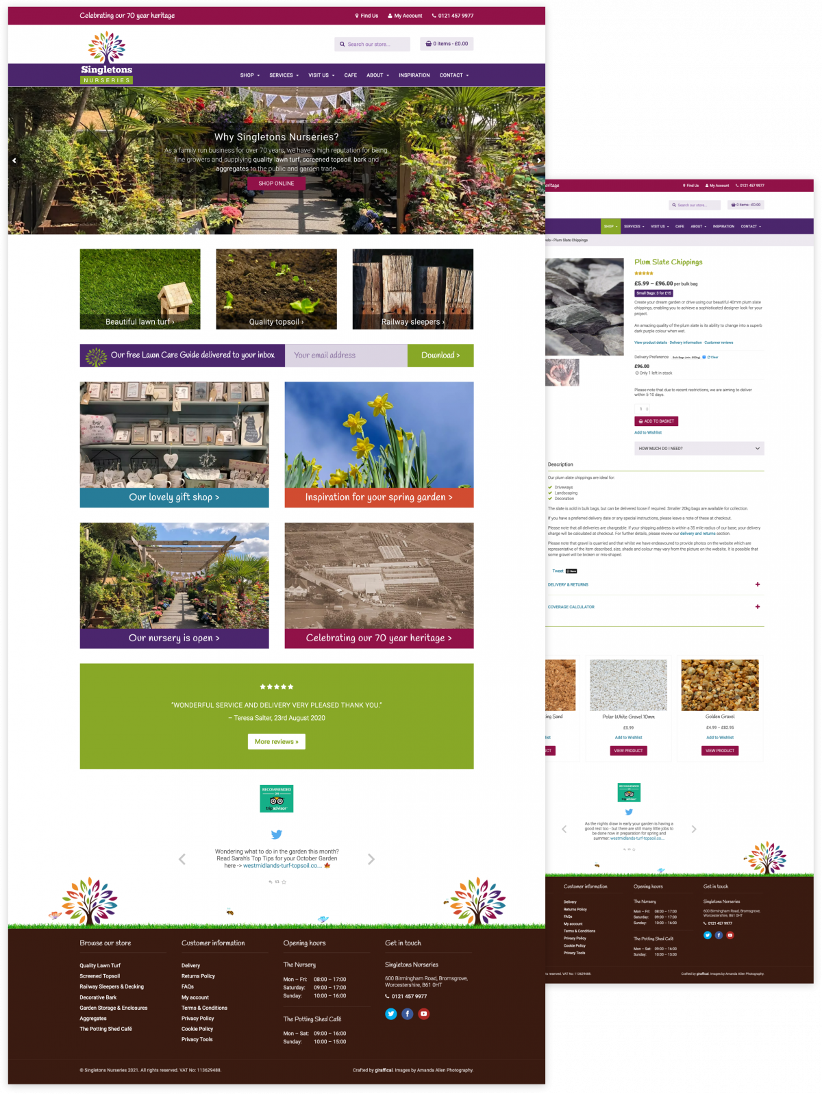 Garden Centre Website Design - Singletons Nurseries