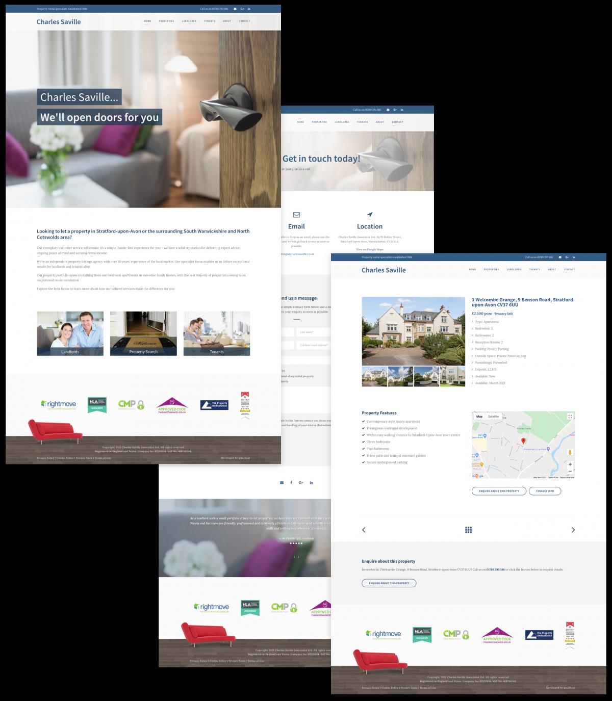 Letting Agent Website Design - Charles Saville Associates Ltd