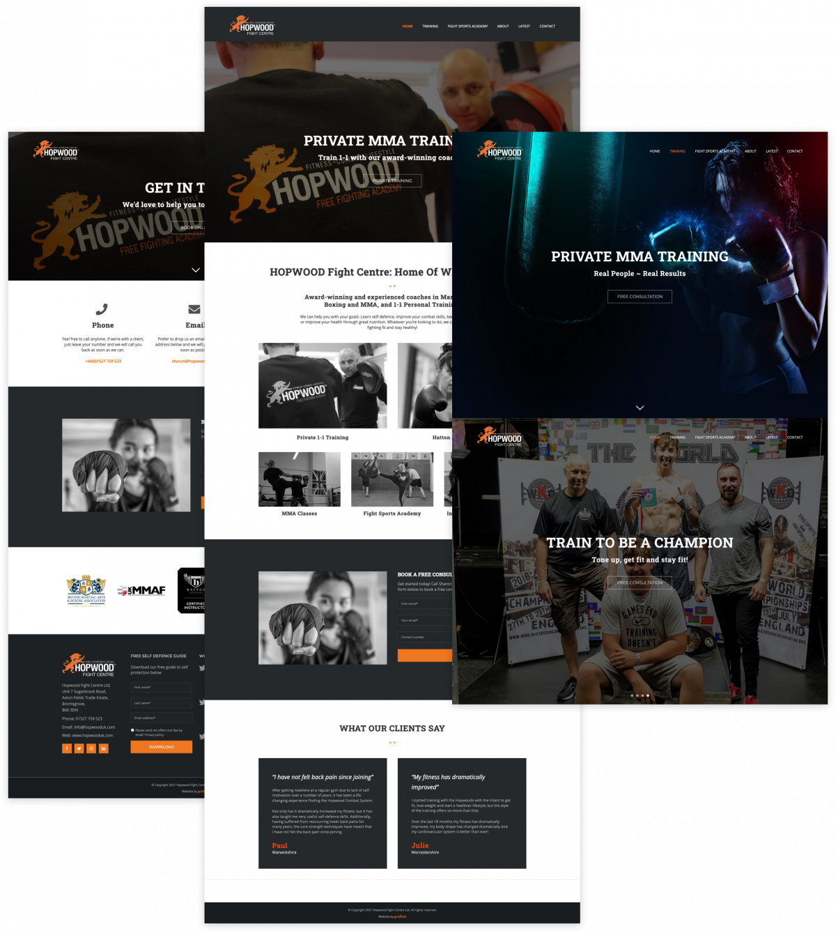 MMA Gym Website - Hopwood Fight Centre
