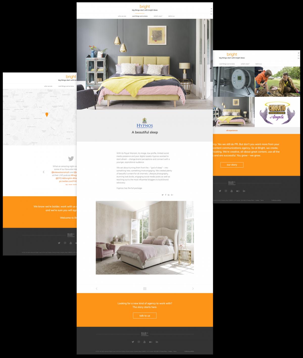 PR Marketing Agency Website - Bright