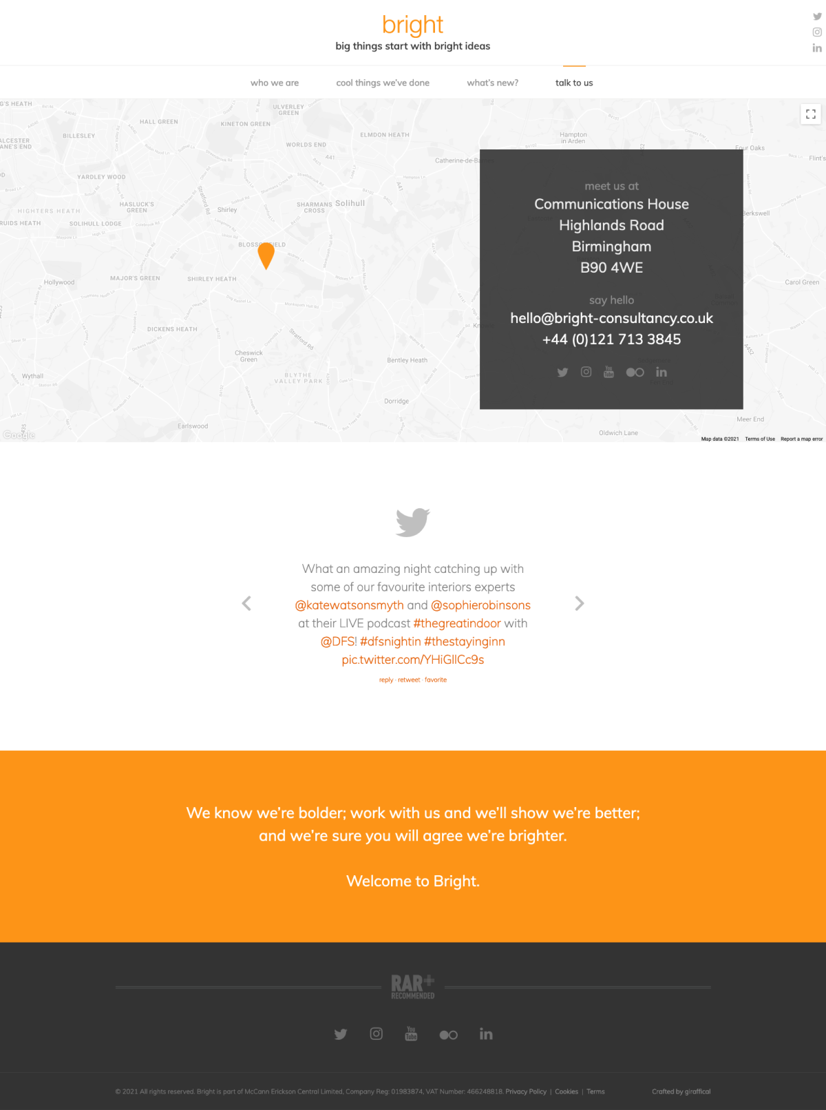PR Marketing Agency Website - Bright - Contact Page