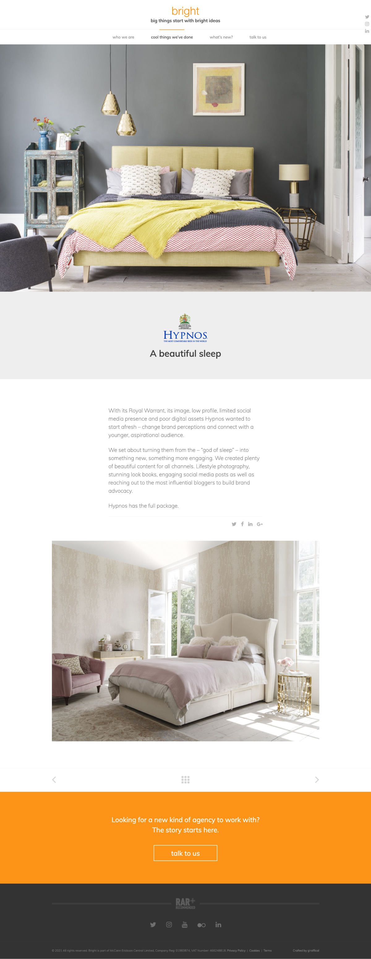 PR Marketing Agency Website - Bright - Project Page